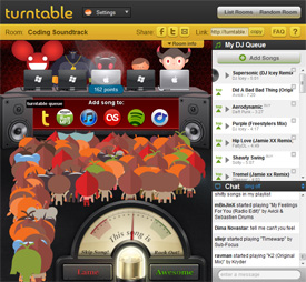 Yes, turntable.fm is most defintely badass.